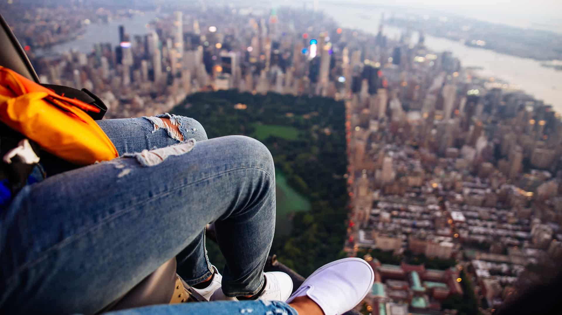 vue aerienne central park new york