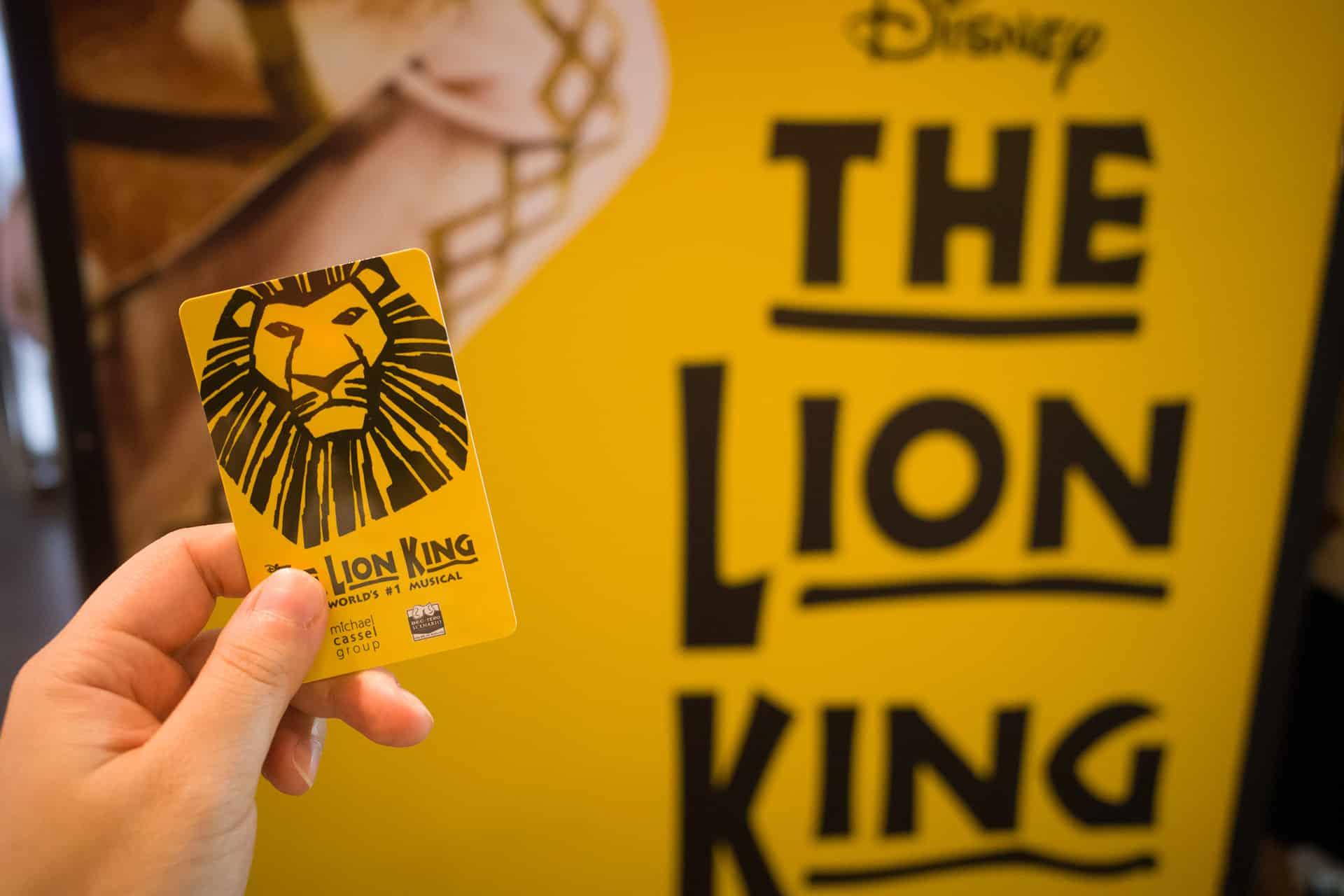 ticket le roi lion broadway